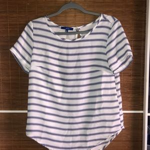 Purple and white striped top